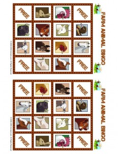 Farm Animal Bingo Playing Card 5
