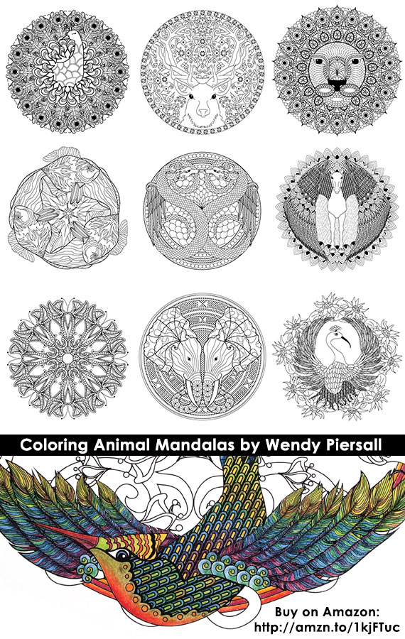 Coloring Animal Mandalas Book Preview
