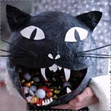 black cat candy bowl Black Cat Halloween Crafts for Kids