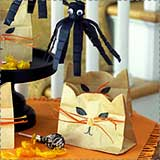 cat halloween treat bags Black Cat Halloween Crafts for Kids