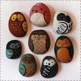 painted rock owls1 Animal Crafts for Fall: Owl Crafts