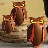 paper owl containers Animal Crafts for Fall: Owl Crafts
