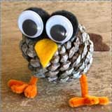 pine cone fallcraft owl Animal Crafts for Fall: Owl Crafts