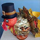turkey paper sculpture Turkey Crafts for Kids