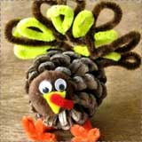 turkey pine cone craft Turkey Crafts for Kids