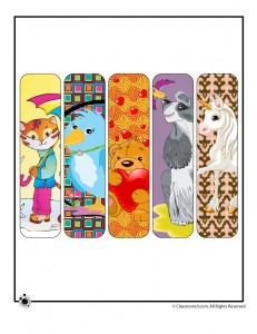 cute animal bookmarks 231x300 Printable Animal Bookmarks