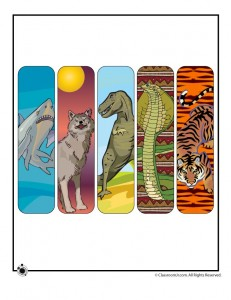 printable animal bookmarks 231x300 Printable Animal Bookmarks