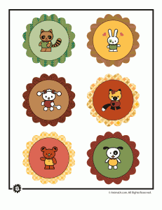 Printable Animal Cupcake Topper Decorations