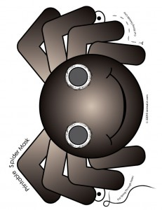 spider mask 231x300 Cute Printable Halloween Animal Paper Masks