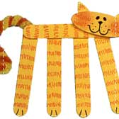 craft stick kitties 20 Animal Crafts for Kids