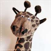 giraffe sock puppets 20 Animal Crafts for Kids