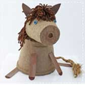 horse crafts peat pots 20 Animal Crafts for Kids