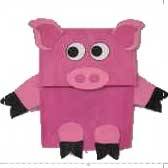 paper bag pigs 20 Animal Crafts for Kids