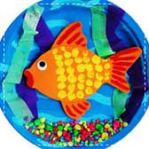 paper goldfish aquarium 20 Animal Crafts for Kids