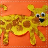 rolling pin painting leopard 20 Animal Crafts for Kids