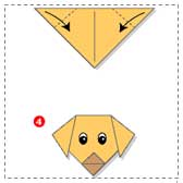 simple origami dogs 20 Animal Crafts for Kids